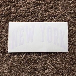 RARE white brandy melville 'new york' sticker